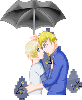 APH- Spring Showers by KitsuneAngel