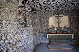 Skull Chapel in Czermna, Poland by lupusmagus