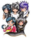 Chibi Anime Guys by Rurutia8