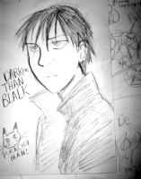 sketch: darker than black by JillyFoo
