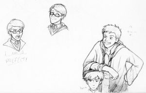 Percy, Ron, and a Twin by laerry