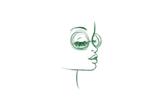 Glasses Girl WIP. by iRoCkCoNvErSe