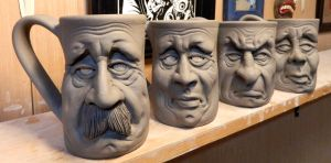 More Face Mugs on the shelf-WIP by thebigduluth