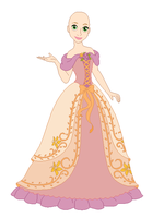 Rapunzel dress base 01 by Raygirlbases