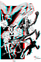 New Mutants by Alan Davis in 3D Anaglyph by xmancyclops
