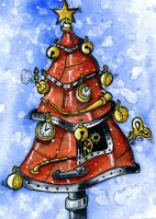 Clockwork Christmas Tree by Art-by-Cricket