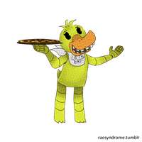 FNAF Cartoony Retro Chica by RaeSyndrome