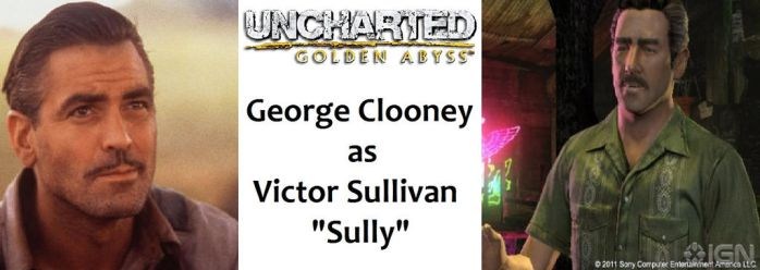 Uncharted G.A. - Victor Sullivan: George Clooney by RobertTheComicWriter