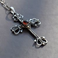Victorian cross - pendant by Eire-handmade