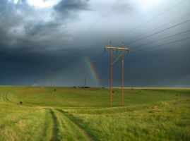 Rainbow Over Nebraska by MirMidPhotos