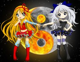Sun and Moon by BrokenSilhouette77