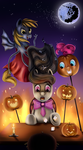 Halloween in Ponyvile by Sentabry