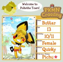 PKMN Crossing: Buttar by Fish-tang