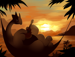 Peaceful Lugia by HappyCrumble