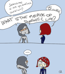 Mass Effect 3: EDI's question by claponyo
