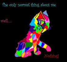 My spedcial colorful cat by Mewgirl223