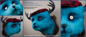 The Hunted : Faux Taxidermy Bust by emilySculpts