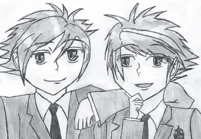 The twins from Ouran High School Host Club :3 by Lenaleekitkat