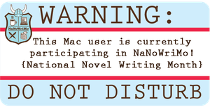 NaNoWriMo Laptop Sticker: Mac by MoPotter