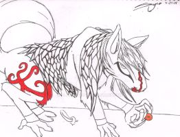 Feather Haired Gecko Wolf by Blackcat34