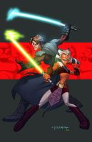 Clone Wars::Anakin and Ahsoka by KharyRandolph