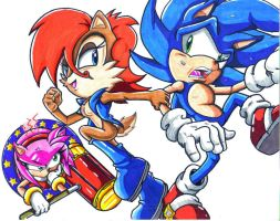 sonic sally amy by trunks24