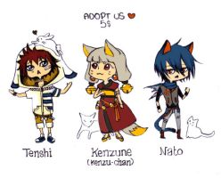 .miaw adoptables. (closed) by Ponchounette