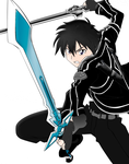 kirito (SAO) (sword art online) by DCROSSS