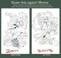 Before And After Zatana by GreenAsDay