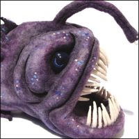 Needle Felt Angler Fish by AlwaysSuagarCoated