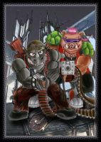 Bebop and Rocksteady by Giosuke