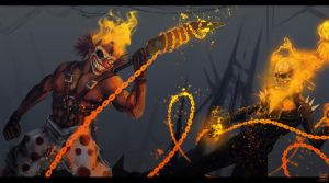 Sweet Tooth vs Ghost Rider by xluxifer