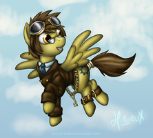 Steampunk Pony: Dr. Cogsdale by hirurux
