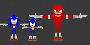 Sonic boom Knuckles WIP2 by NIBROCrock