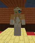 My wedding dress on minecraft by tigerhawkfurrylover