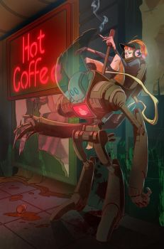 Coffee Robot by AmeliaVidal