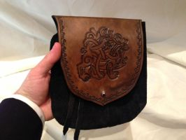 Hand-Tooled Celtic Belt Pouch by SonsOfPlunderLeather