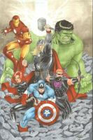 Avengers Commission Copics by Sajad126