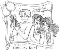 Happy Birthday Ron - HP by lberghol