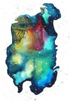 Abstract Watercolour Ink Galaxy by Curious RubyEdi by Curious-Ruby