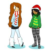 Christmas outfits!! by CatnipPacket