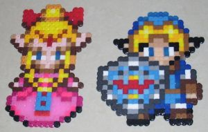 Perlers - Zelda and Link by MandyNeko