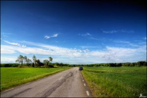 Lonely road by Chribba