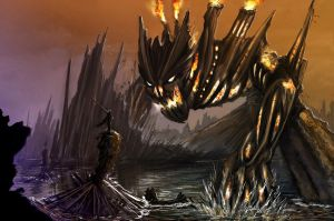 RIFT colossus: Fire Guardian by Mcreation4102