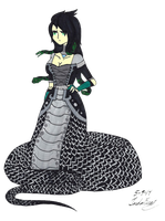 Ivy the great black serpent by clinclang
