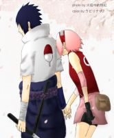 sasusaku161 colored by pinkyflame