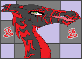 Myrave dragon done on paint by jashinist112