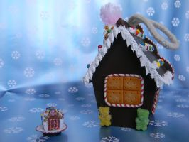 Gingerbread House Ornament-Back View by ThePetiteShop