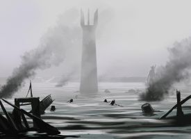 The siege of Isengard by FantasyMaker