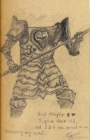 sketch 4 - The red knight by alienforce1004